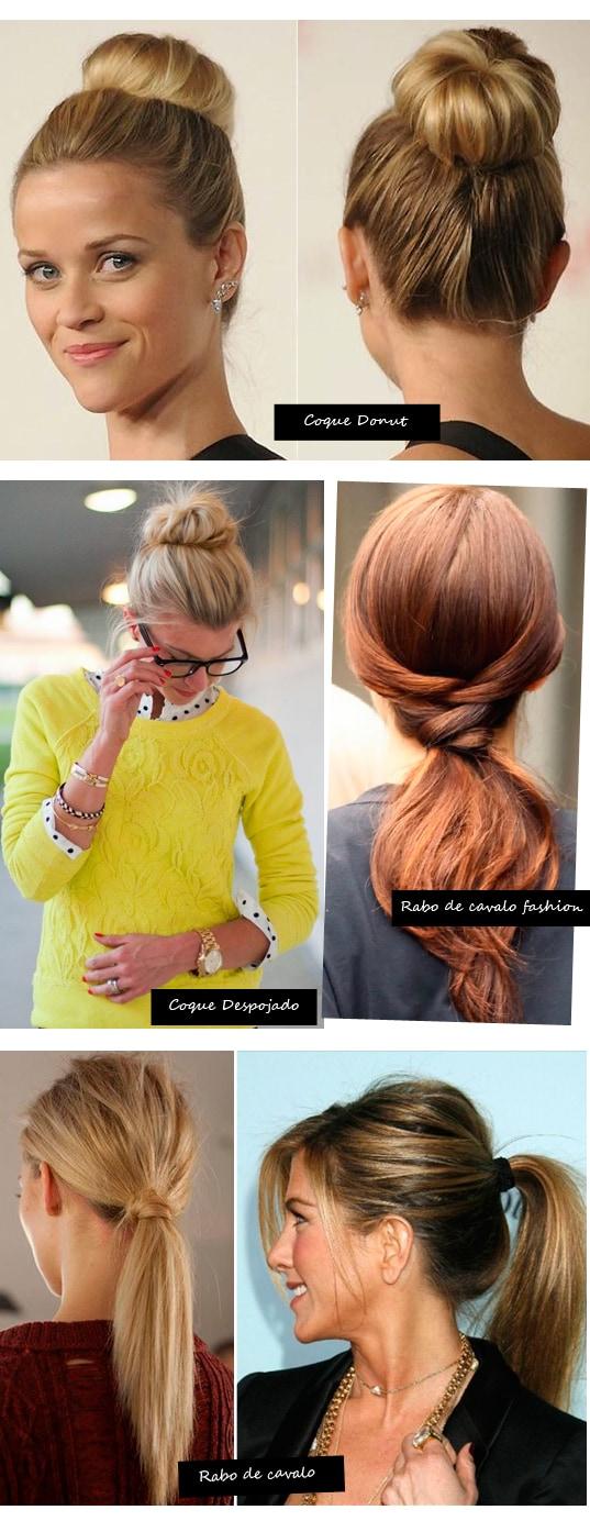 penteados fáceis e bonitos