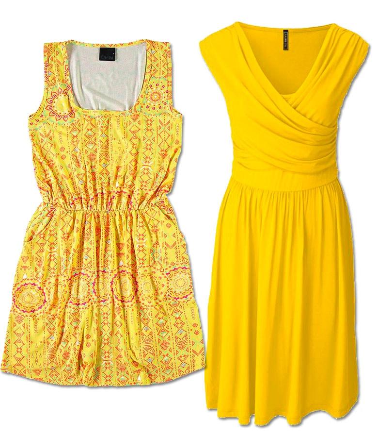 look amarelo para a virada do ano