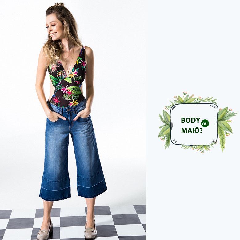 52eda92fe É que nessa produção o maiô fez as vezes do body e ficou perfeito combinado  com a calça jeans pantacourt