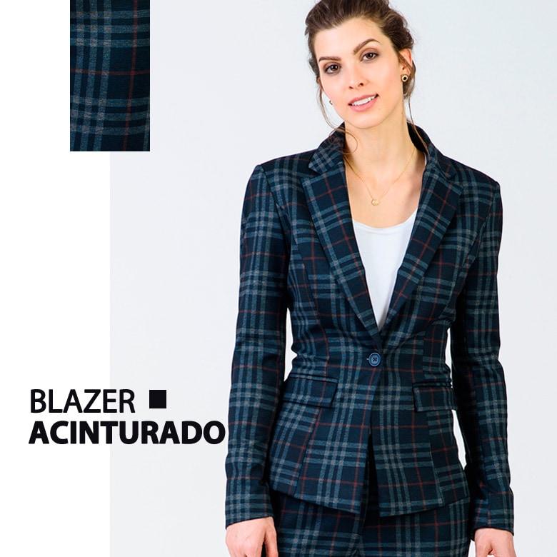 bf26f04877 Blazer xadrez azul marinho – COMPRE AQUI!