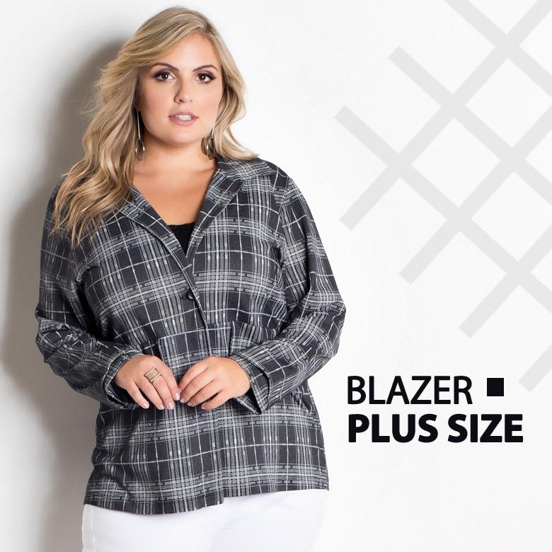 36ac27330d Blazer xadrez plus size – COMPRE AQUI!