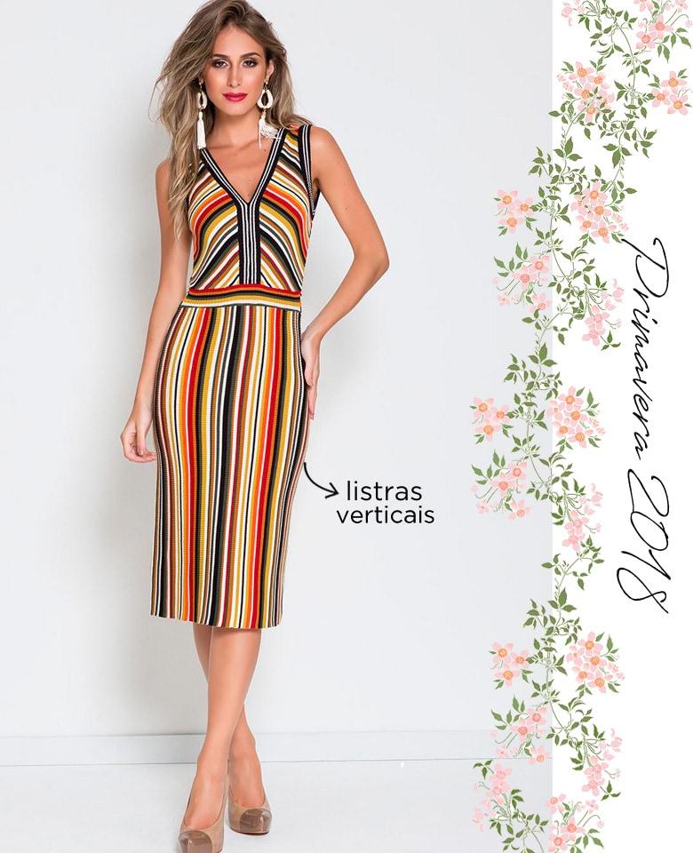 958e5620c4 Vestido tubinho listras verticais coloridas – COMPRE AGORA!