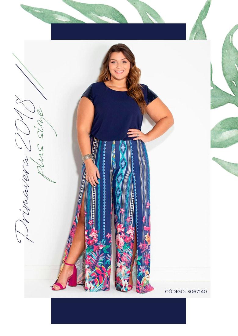 07023b121 Calça pantalona plus size floral tropical – COMPRE AQUI!
