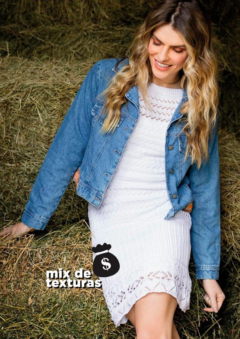 a934be2b1b Jaqueta Jeans – Compre AQUI!   Vestido Renda – Compre AQUI!