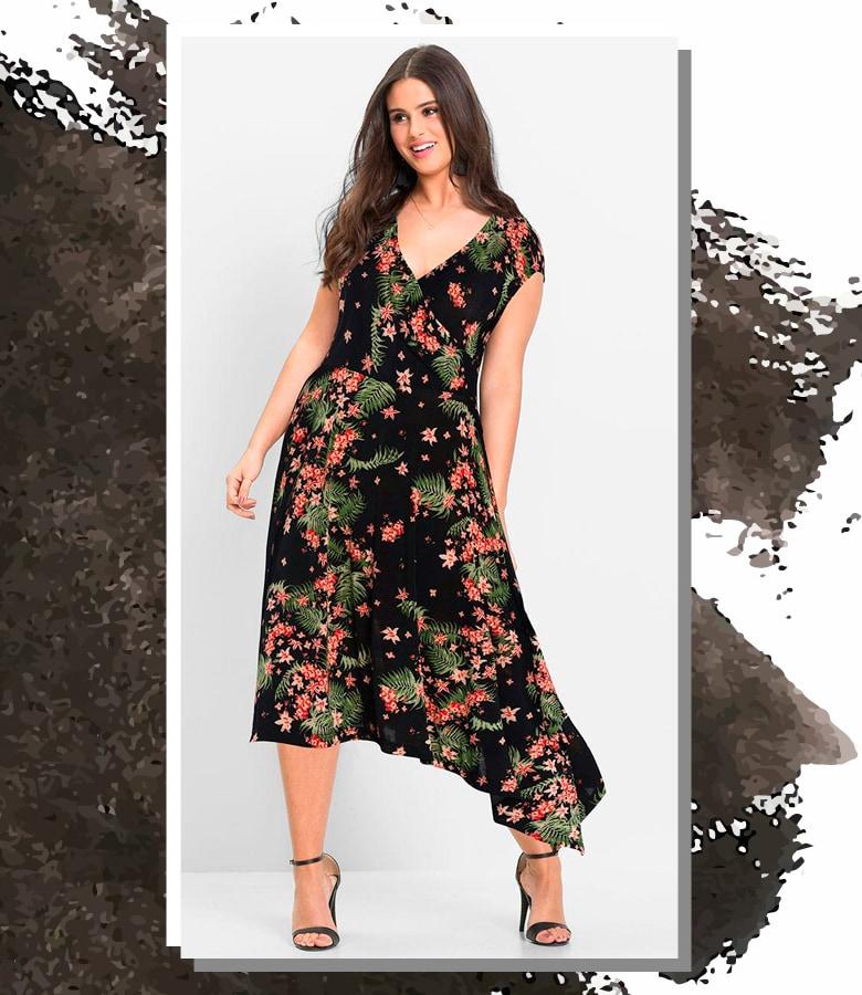 506d8da54 Vestido mídi é uma das melhores opções, pois ele está na medida e é  confortável. A ocasião permite que você abuse de estampas como florais e  listras.
