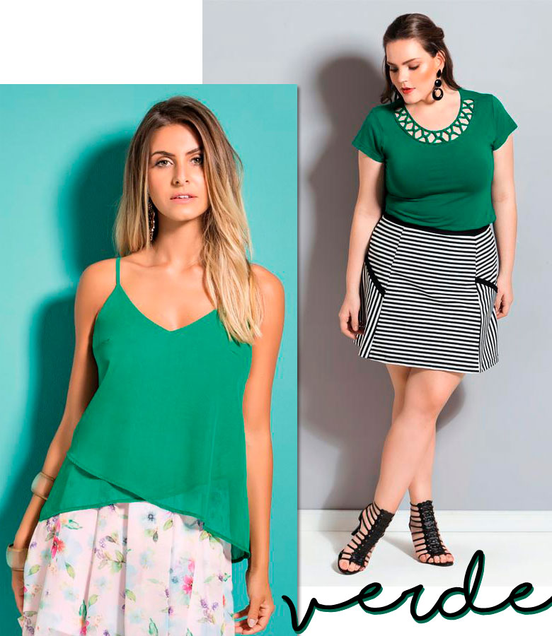 look verde para a virada do ano