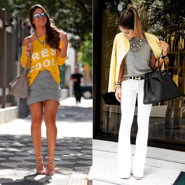 Cinza-e-amarelo-look